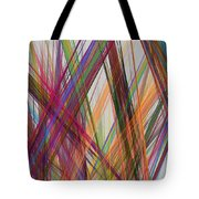Colorful Straight Line Fractal Flame Tote Bag