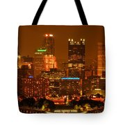 Colorful Summer Night In Pittsburgh Tote Bag