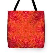Colorful Sun Mandala Tote Bag
