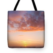 Colorful Sunset Cloudscape Over Beach And Ocean Tote Bag