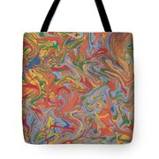 Colorful Swirls Drip Painting Tote Bag