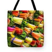 Colorful Swiss Chard Tote Bag