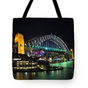 Colorful Sydney Harbour Bridge By Night 3 Tote Bag