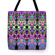 Colorful Symmetrical Abstract Tote Bag