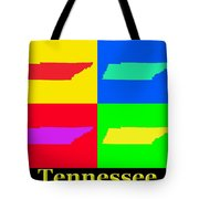 Colorful Tennessee Pop Art Map Tote Bag
