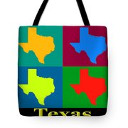 Colorful Texas Pop Art Map Tote Bag