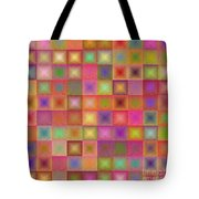 Colorful Textured Squares Tote Bag