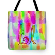 Colorful Texturized Alphabet Ll Tote Bag