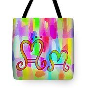 Colorful Texturized Alphabet Mm Tote Bag