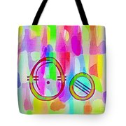 Colorful Texturized Alphabet Oo Tote Bag