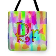 Colorful Texturized Alphabet Rr Tote Bag