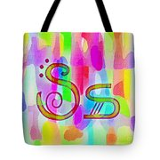 Colorful Texturized Alphabet Ss Tote Bag