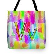Colorful Texturized Alphabet Vv Tote Bag