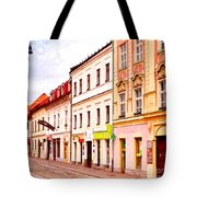 Colorful Town Homes Tote Bag