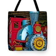 Colorful Train Tote Bag