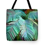 Colorful Tropical Leaves In The Jungle Tote Bag