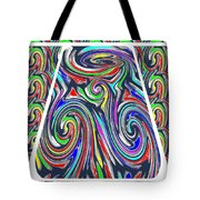 Colorful Twirl Wave Shield Design Background Designs  And Color Tones N Color Shades Available For D Tote Bag