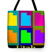 Colorful Utah State Pop Art Map Tote Bag
