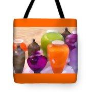Colorful Vases I - Still Life Tote Bag