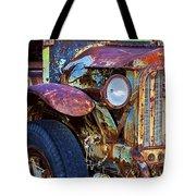 Colorful Vintage Car Tote Bag