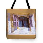 Colorful Window Shutters Tote Bag
