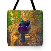 Colorful World Of Wood Duck Tote Bag