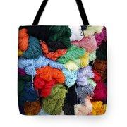 Colorful Yarn Otavalo Market Ecuador Tote Bag