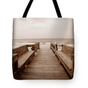 Colorless Seascape Tote Bag