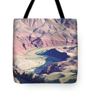 Colorodo River Flowing Through The Grand Canyon Tote Bag