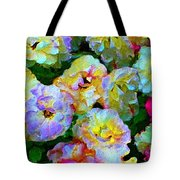 Colors And Roses Tote Bag