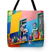 Colors And Statues Tote Bag
