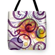 Colors In Space Tote Bag