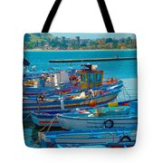 Colors Of A Fishing Fleet Tote Bag