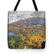 Colors Of Central Park Tote Bag