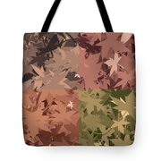 Colors Of Fall Leaves Abstract Tote Bag