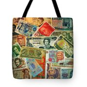 Colors Of Money Tote Bag