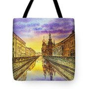 Colors Of Russia St Petersburg Cathedral I Tote Bag by Irina Sztukowski
