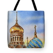 Colors Of Russia St Petersburg Cathedral Iv Tote Bag by Irina Sztukowski
