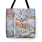 Colors Of Russia Winter In Saint Petersburg Tote Bag by Irina Sztukowski