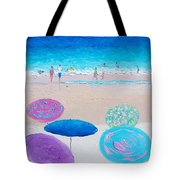 Colors Of Summer Beach Painting Tote Bag