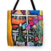 Colosi Wine With Flowers Tote Bag by Chaline Ouellet