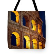 Colosseum And Moon Tote Bag