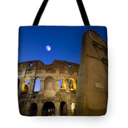 Colosseum And The Moon Tote Bag