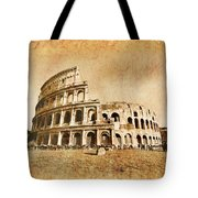 Colosseum Grunge Tote Bag