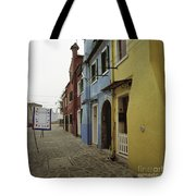 Coloured Houses In Burano Tote Bag