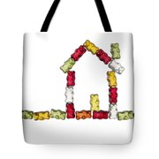 Coloured Jellybabies Formed As A House Tote Bag