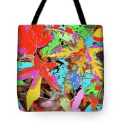 Coloured Leaves By M.l.d. Moerings  2009 Tote Bag