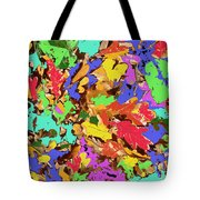 Coloured Oak Leaves By M.l.d. Moerings 2009 Tote Bag