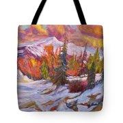 Coloured Winter Tote Bag