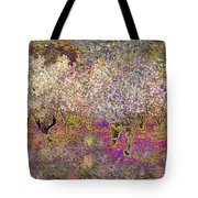 Colourful Almond Trees Tote Bag